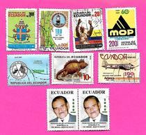 3177  --  EQUATEUR  --   Lot  De  Timbres  Oblitérés - Equateur