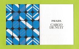 Cartes Parfumées Carte  CARGO DE NUIT   RECTO VERSO  De PRADA - Modern (from 1961)
