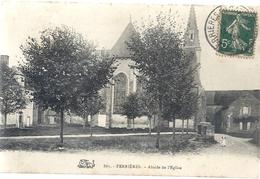 FERRIERES . ABSIDE DE L'EGLISE . AFFR LE 14-9-1909 SUR RECTO - France