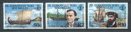 234 ZIL ELWANNYEN SESEL Seychelles 1985 - Yvert 124/26 - Bateau Voilier - Neuf **(MNH) Sans Charniere - Seychelles (1976-...)