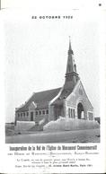 SOMME - 80 - RANCOURT Près De Péronne - Inauguration En 1922 Nef De L'église - Carte Double - Peronne
