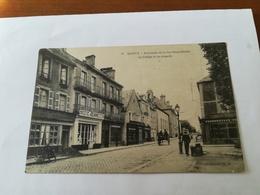 Bayeux Extrémité De La Rue Saint-Patrice Le Collège Et Sa Chapelle écrire Circuler 1915 - Bayeux