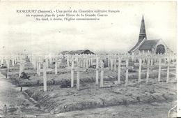 SOMME - 80 - RANCOURT Près De Péronne -  Guerre 14 - Une Partie Du Cimetière Militaire 7000 Soldats - Peronne