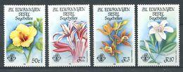 234 ZIL ELWANNYEN SESEL Seychelles 1986 - Yvert 139/42 - Fleur - Neuf **(MNH) Sans Charniere - Seychelles (1976-...)