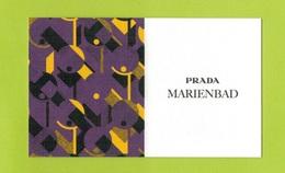 Cartes Parfumées Carte  MARIENBAD RECTO VERSO De PRADA - Cartes Parfumées