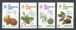 234 ZIL ELWANNYEN SESEL Seychelles 1987 - Yvert 150/53 - Fruit Coco Mangrove Pandanus ... - Neuf **(MNH) Sans Charniere - Seychelles (1976-...)
