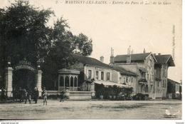 88. Martigny Les Bains. Entrée Du Parc Et Rue De La Gare - France