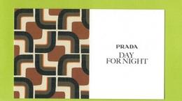 Cartes Parfumées Carte DAY FOR NIGHT  RECTO VERSO De PRADA - Cartes Parfumées