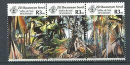 234 ZIL ELWANNYEN SESEL Seychelles 1987 - Yvert 163/65 - Vue Vallee De Mai - Neuf **(MNH) Sans Charniere - Seychelles (1976-...)