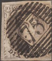 Belgique 1858 COB 8A   10 C. Brun. Médaillon P75 Lokeren. Superbe - 1858-1862 Médaillons (9/12)