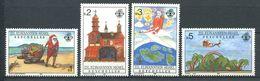 234 ZIL ELWANNYEN SESEL Seychelles 1988 - Yvert 174/77 - Pere Noel - Neuf **(MNH) Sans Charniere - Seychelles (1976-...)