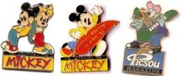 Au Choix 2 Pin's_Collection Disney-Club_Rangers_Flagada_Baloo_Journal De Mickey - Disney