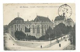 35/ ILLE Et VILAINE... RENNES. Le Lycée. Hôpital Militaire N 1 ( Guerre De 1914-1915).. Cachet.. 2 Scans - Rennes