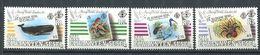 234 ZIL ELWANNYEN SESEL Seychelles 1990 - Yvert 194/97 - Timbre Sur Timbre (Faune) - Neuf **(MNH) Sans Charniere - Seychelles (1976-...)