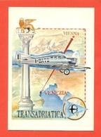 TRANSADRIATICA-PILOTI R.PASQUALI-E V. BURATTINI - VENEZIA - VIENNA  - AEREI - Aviatori
