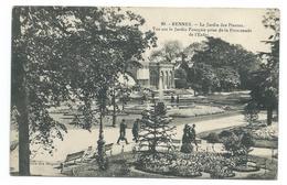 35/ ILLE Et VILAINE... RENNES. Le Jardin Des Plantes. Vue Sur Le Jardin Français Prise De La Promenade De L'Enfer - Rennes