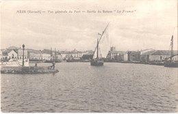 """FR34 MEZE - Vue Générale Du Port - Sortie Du Bateau """"la France"""" - Animée - Belle - Mèze"""