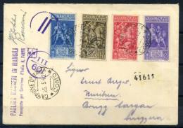 Italia 1942 Sass. 458-461 Busta 100% Censurata Campione D'Italia, Como - 1900-44 Vittorio Emanuele III
