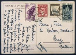 Vaticano 1937 Cartolina 100% Svizzera, Canton Vallese - Vaticano