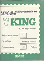 Francia Quadri, Opere D'Arte 1969, Fogli D'aggiornamento Con Taschine, Nuovi In Confezione Originale Ditta Marini. - Album & Raccoglitori