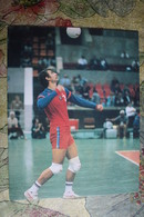 """Volleyball Champion Savin. OLD Card From USSR Set """"PRIDE OF SOVIET SPORT """" 1980s - Volleyball"""