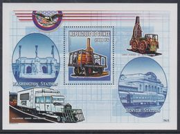 """Guinée BF N° 204A XX Trains Locomotives : """"Tom Thumb"""", Le Bloc Sans Charnière, TB - Guinea (1958-...)"""
