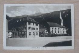 AK CH GL NETSTAL Post Und Kirche Ges 11.11.1926 Bahnpost Ambulant #3456 Verlag Guggenheim - GL Glarus