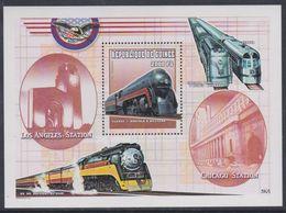 """Guinée BF N° 204C XX Trains Locomotives : """"Classe J Norfolk&Western"""", Le Bloc Sans Charnière, TB - Guinea (1958-...)"""