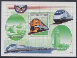 """Guinée BF N° 204D XX Trains Locomotives : """"CC Royal Gorgo N° 403"""", Le Bloc Sans Charnière, TB - Guinea (1958-...)"""