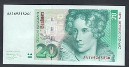 GERMANIA GERMANY 20 Mark 1991 Serie AA Q.fds  LOTTO 2013 - 20 Deutsche Mark