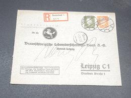 ALLEMAGNE - Enveloppe Commerciale En Recommandé De Remscheid Pour Leipzig En 1932 - L 19741 - Deutschland