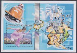 Guinée BF N° 208 XX Jeux Olympique D'hiver à Salk Lake City : Patinage Artistique , Le Bloc Sans Charnière, TB - Guinea (1958-...)