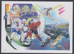 Guinée BF N° 209 XX Jeux Olympique D'hiver à Salk Lake City : Hockey Sur Glace, Le Bloc Sans Charnière, TB - Guinea (1958-...)