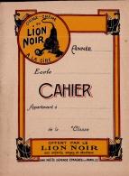 CAHIER D'ECOLIER  Ou Cahier D'écriture , Publicité Lion Noir , 20 X 15 CM , Vierge , 10 Pages - Stationeries (flat Articles)