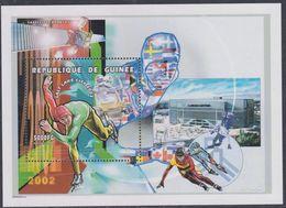 Guinée BF N° 209 XX Jeux Olympique D'hiver à Salk Lake City : Patinage De Vitesse, Le Bloc Sans Charnière, TB - Guinea (1958-...)