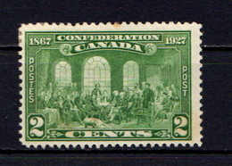 CANADA    1927    60th  Anniv  Of  Confederation    2c  Green  ( Very Slight Stain On One Perf )    MH - Unused Stamps