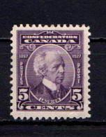 CANADA    1927    60th  Anniv  Of  Confederation    5c  Violet      MH - Unused Stamps