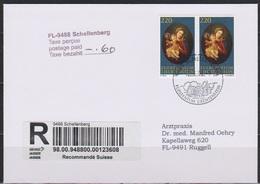 Lichtenstein FDC 2008  MiNr.2x1478 150 Jahre Frauenkloster, Schellenberg Einschreiben ( D 538 )  Günstige Versandkosten - FDC