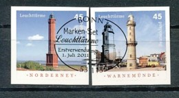 GERMANY Mi.Nr. 2875-2876 Leuchttürme - ESST Bonn- Used - BRD