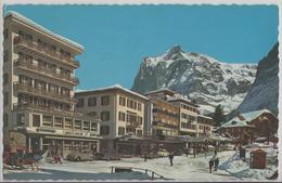 Grindelwald - Wetterhorn, Hotel Kreuz Und Post, VW, Animee Im Winter En Hiver - Photoglob - BE Bern