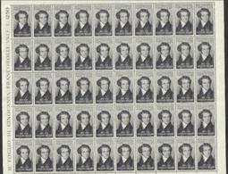 1952 Italia Italy Repubblica BELLINI 50 Serie In Foglio MNH** Sheet - Fogli Completi