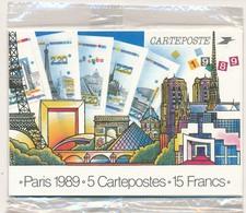 Série Complète Des 5 Cartes Postales - 2579 à 2583 - CP1 Neuves (Philexfrance 1989) - Cartes Postales Types Et TSC (avant 1995)