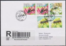 Lichtenstein FDC 2008  MiNr.2x1482,2x1483+1484 Seltene Bienen Und Wespen Einschreiben( D6181 ) Günstige Versandkosten - FDC