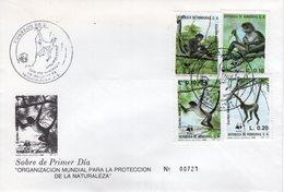 HONDURAS - 1990 Airmail - The Black-handed Spider Monkey   FDC5534 - Honduras