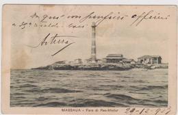 Massaua, Faro Di Ras-Madur, Eritrea - F.p. - Anni '1910 - Eritrea