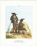 XIXe Litho Couleurs De Thierry Frères; PYRENEES. Contrebandiers ( Tricotant !) Aux Environs De GAVARNY - Estampes & Gravures