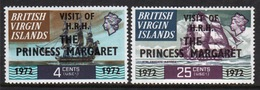 British Virgin Islands Set Of Stamps To Celebrate The Royal Visit Of Princess Margaret From 1972. - British Virgin Islands