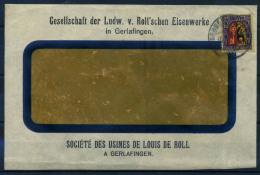Svizzera 1918 Busta 100% Stemma, Pro Juventute, Louis De Roll - Pro Juventute