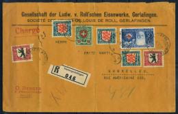 Svizzera 1928 Busta 40% Nidergerlafingen, Louis De Roll, GERLAFINGEN, Bruxelles - Switzerland