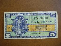 Etats-Unis, 5 Cents Type Série 521, Non Daté (1954), Alphabet 81, Pick M29 - Military Payment Certificates (1946-1973)